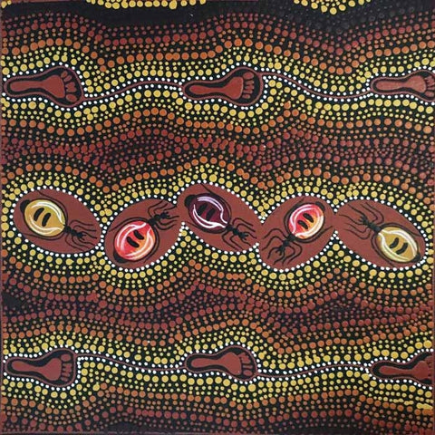 Women Gathering Bush Tucker (Honey Ants). Shop from Utopia Lane Art #AboriginalArt