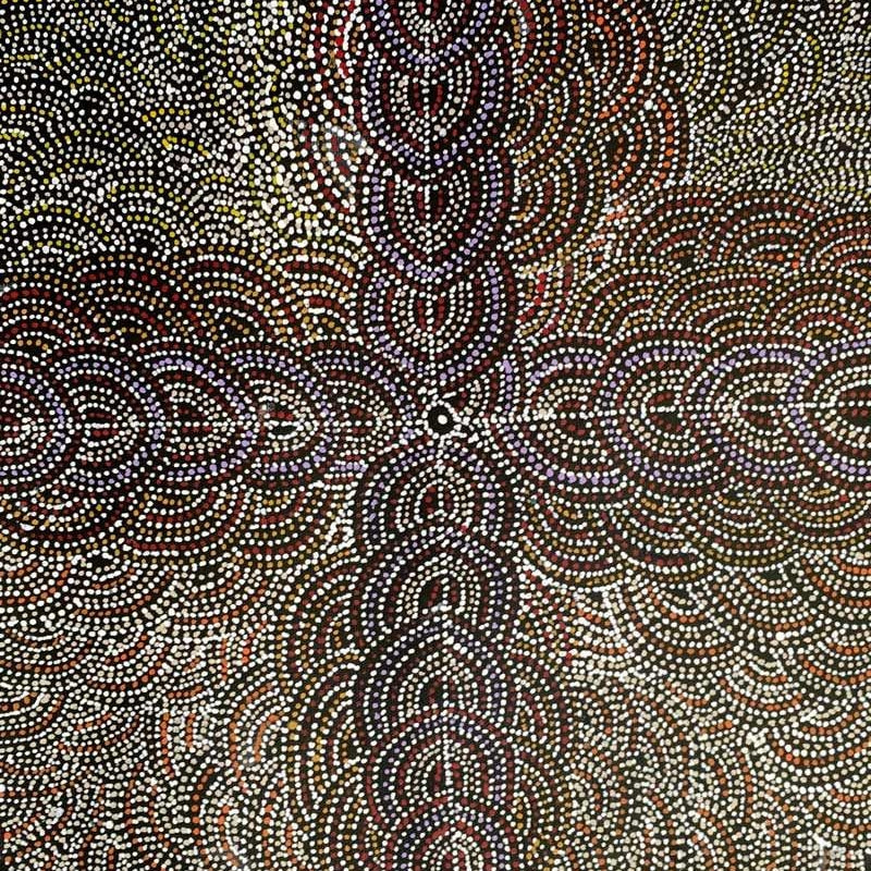 Bush Turkey by Rosie Pwerle by Rosie Pwerle, 30cm x 30cm. Australian Aboriginal Art.