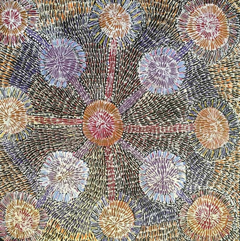 Ilyarnayt Flower by Audrey Morton Kngwarrey. Shop from Utopia Lane Art #AboriginalArt