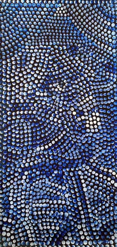 Pencil Yam by Joy Petyarre, 40cm x 20cm. Aboriginal Painting. #AboriginalArt #UtopiaLane