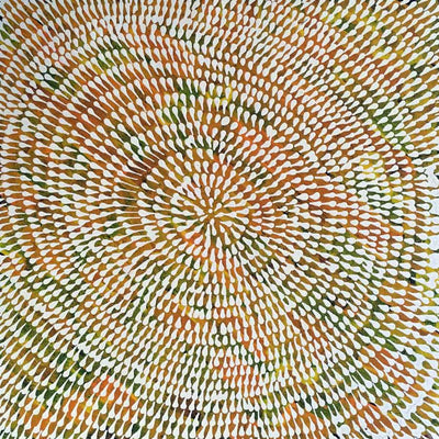 Tharrkarr (Honey Grevillea) by Sandra Jones Petyarr, 30cm x 30cm. Aboriginal Painting. #AboriginalArt #UtopiaLane