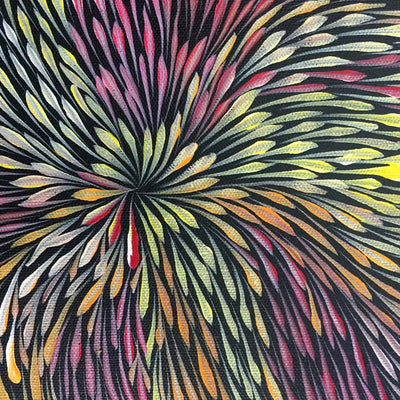 Wild Flowers by Sacha Long Petyarre by Sacha Long Petyarre, 30cm x 30cm. Australian Aboriginal Art.
