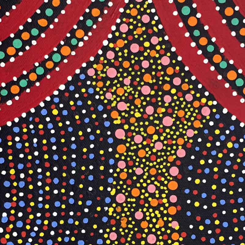 Ntyemeny (Berries) by Shirley Dixon by Shirley Dixon, 30cm x 30cm. Australian Aboriginal Art.