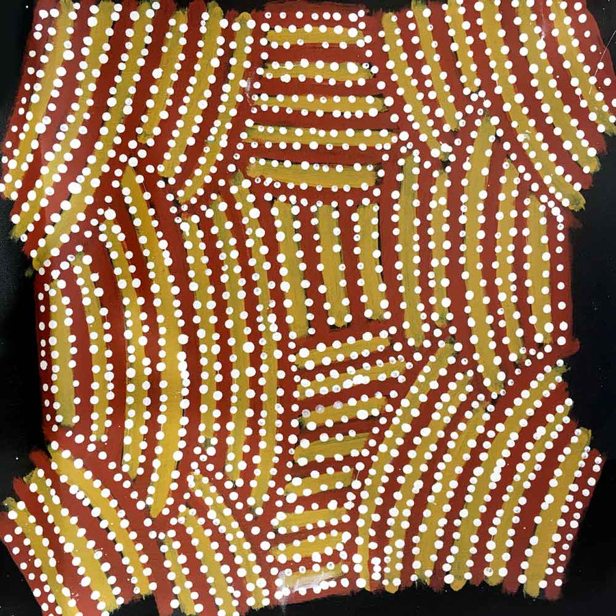 Awelye for Arnkerrthe by Myrtle Petyarre-by-Myrtle Petyarre-30cm x 30cm-at-Utopia-Lane-Gallery #AboriginalArt #Myrtle Petyarre