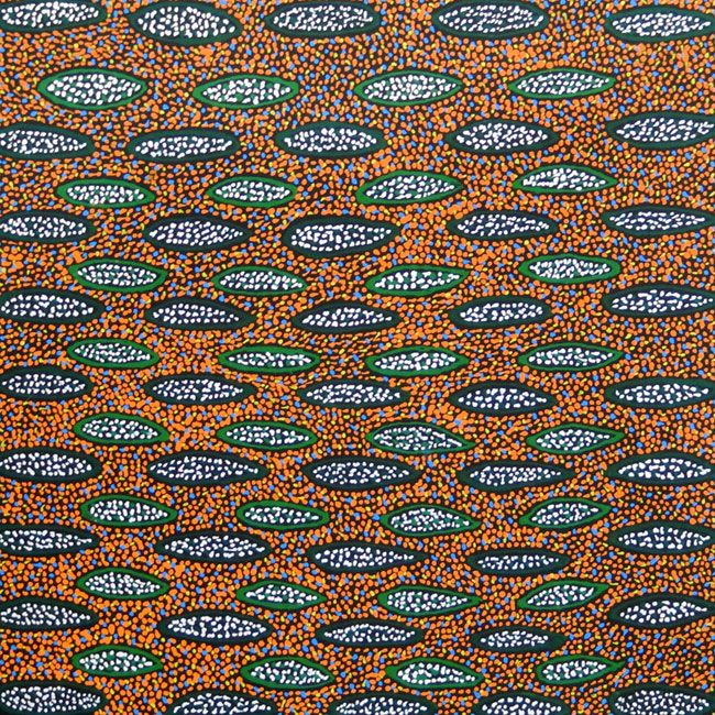 Ilyarnaty by Michelle Lion Kngwarreye by Michelle Lion Kngwarrey, 30cm x 30cm. Australian Aboriginal Art.