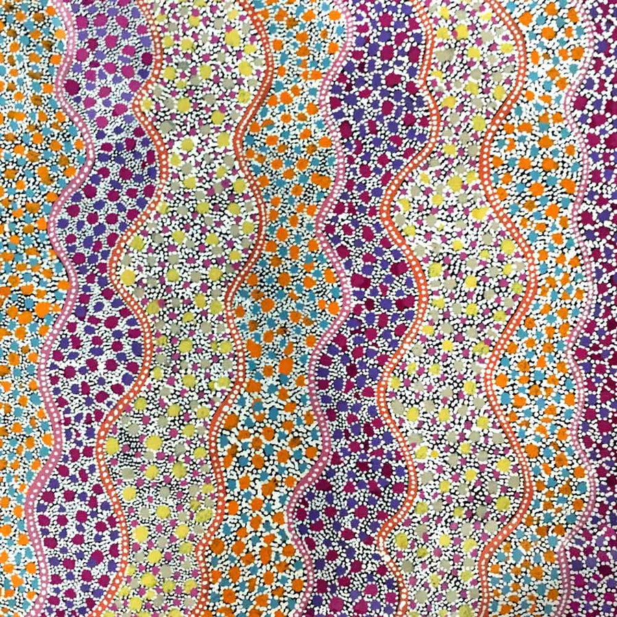 Ilyarnayt by Lily Lion Kngwarrey-by-Lily Lion Kngwarrey-30cm x 30cm-at-Utopia-Lane-Gallery #AboriginalArt #Lily Lion Kngwarrey