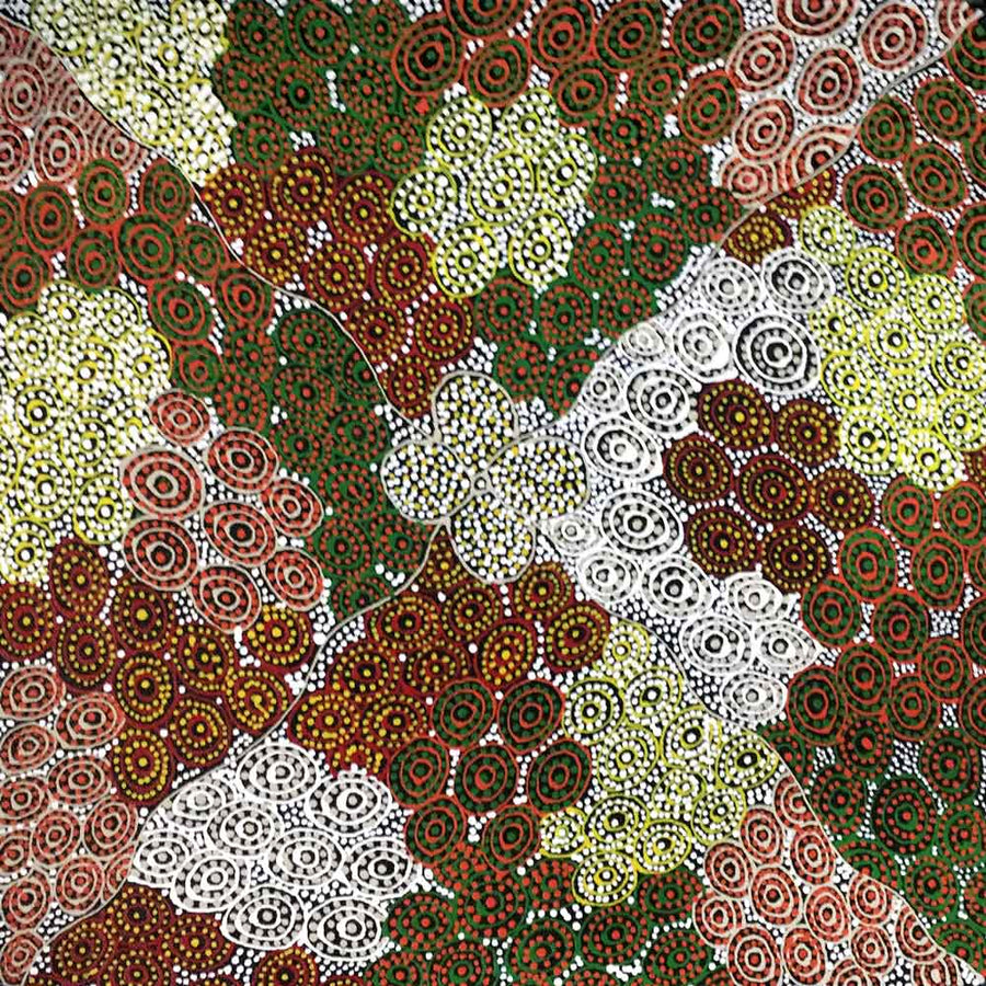 Country by Annie Hunter by Annie Hunter, 30cm x 30cm. Australian Aboriginal Art.