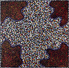Ruby Saltbush Berries by Thelma Dixon-by-Thelma Dixon-30cm x 30cm-at-Utopia-Lane-Gallery #AboriginalArt #Thelma Dixon