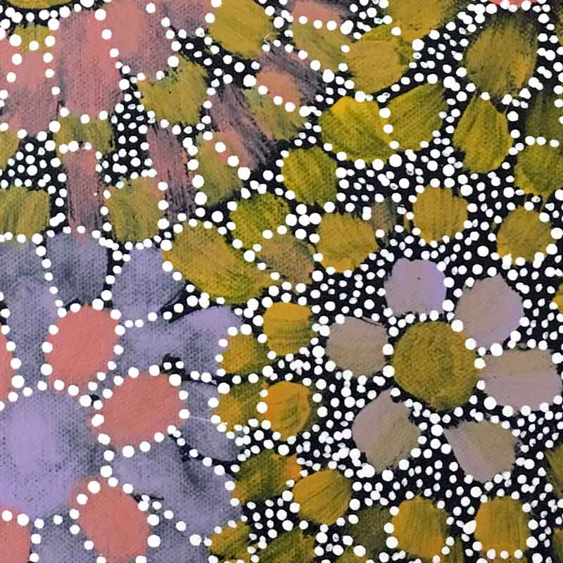 Alhepalh by Hazel Morton Kngwarreye-by-Hazel Morton Kngwarrey-30cm x 30cm-at-Utopia-Lane-Gallery #AboriginalArt #Hazel Morton Kngwarrey