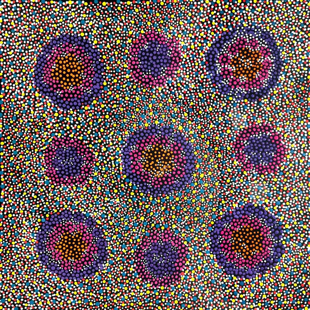 Sugarbag by Annie Hunter by Annie Hunter, 30cm x 30cm. Australian Aboriginal Art.