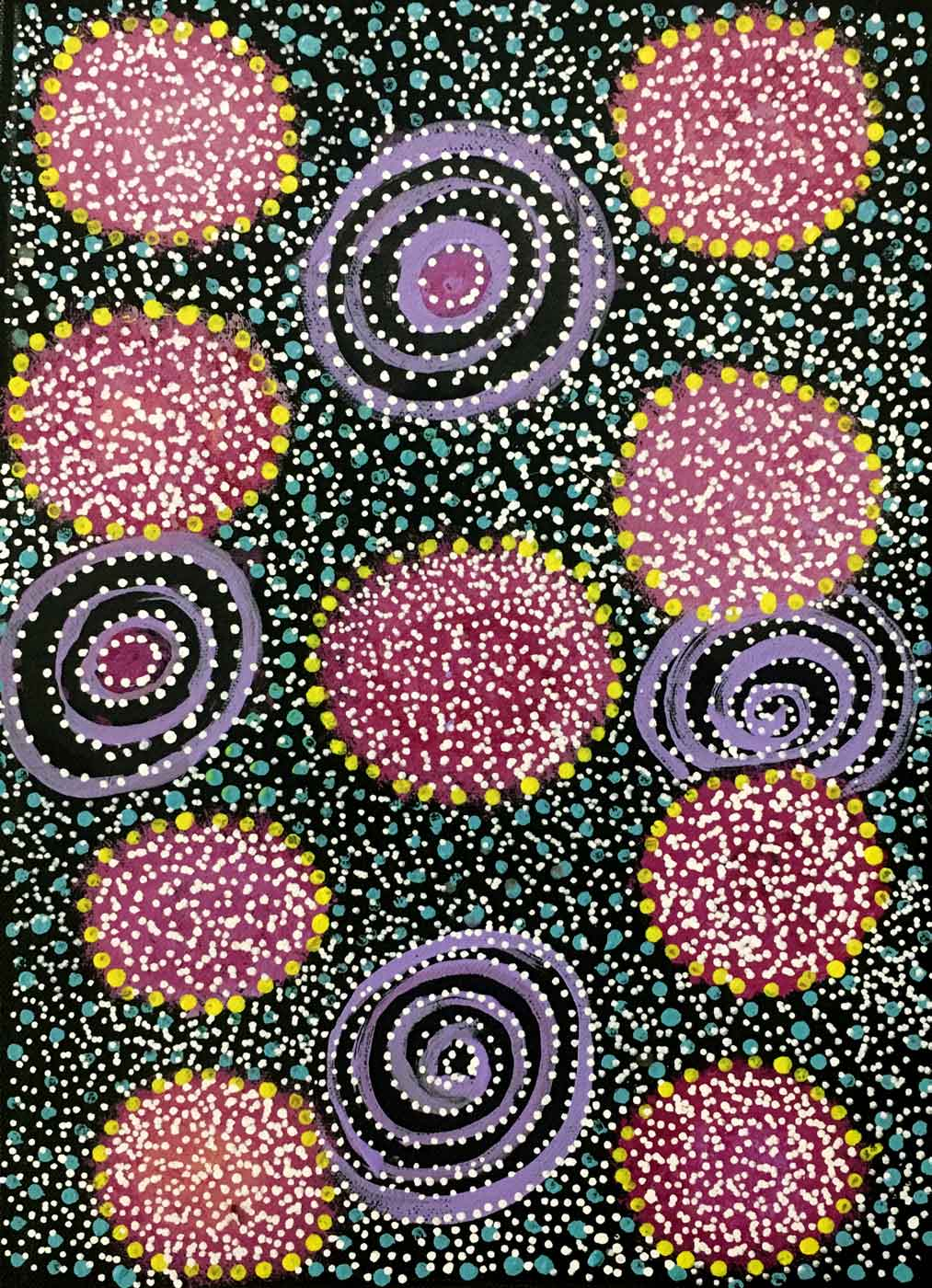 Ilyarnayt Flower by Lucky Morton Kngwarreye
