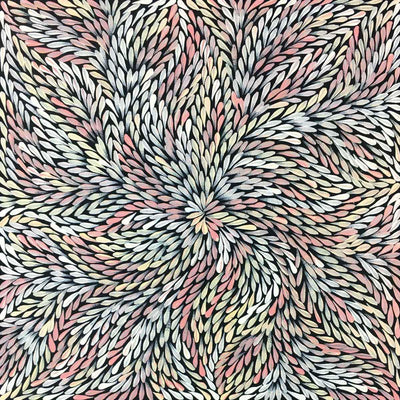 Yam Leaf by Dulcie Pwerle Long. Australian Aboriginal Art.