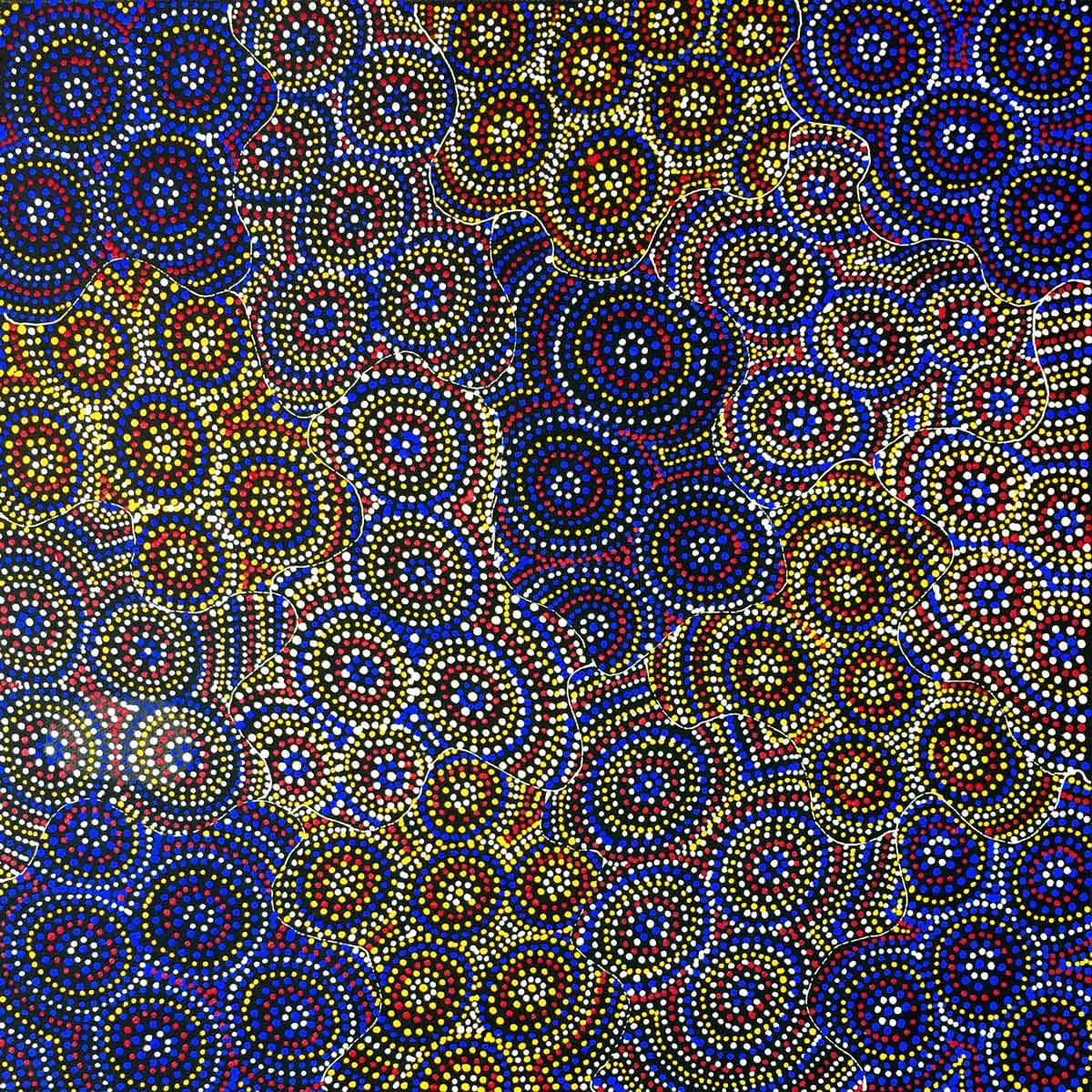 Nteny Ngkwarl by Annie Hunter Petyarre. Australian Aboriginal Art.