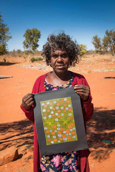 Ilyarnayt Flower by Hazel Morton, Australian Aboriginal Art