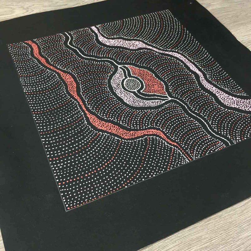 My Country by Delvine Petyarre. Australian Aboriginal Art.