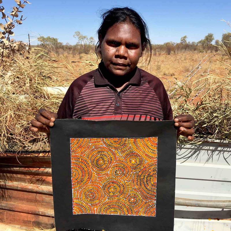 Corkwood Honey by Doreen Kunoth Petyarre. Australian Aboriginal Art.