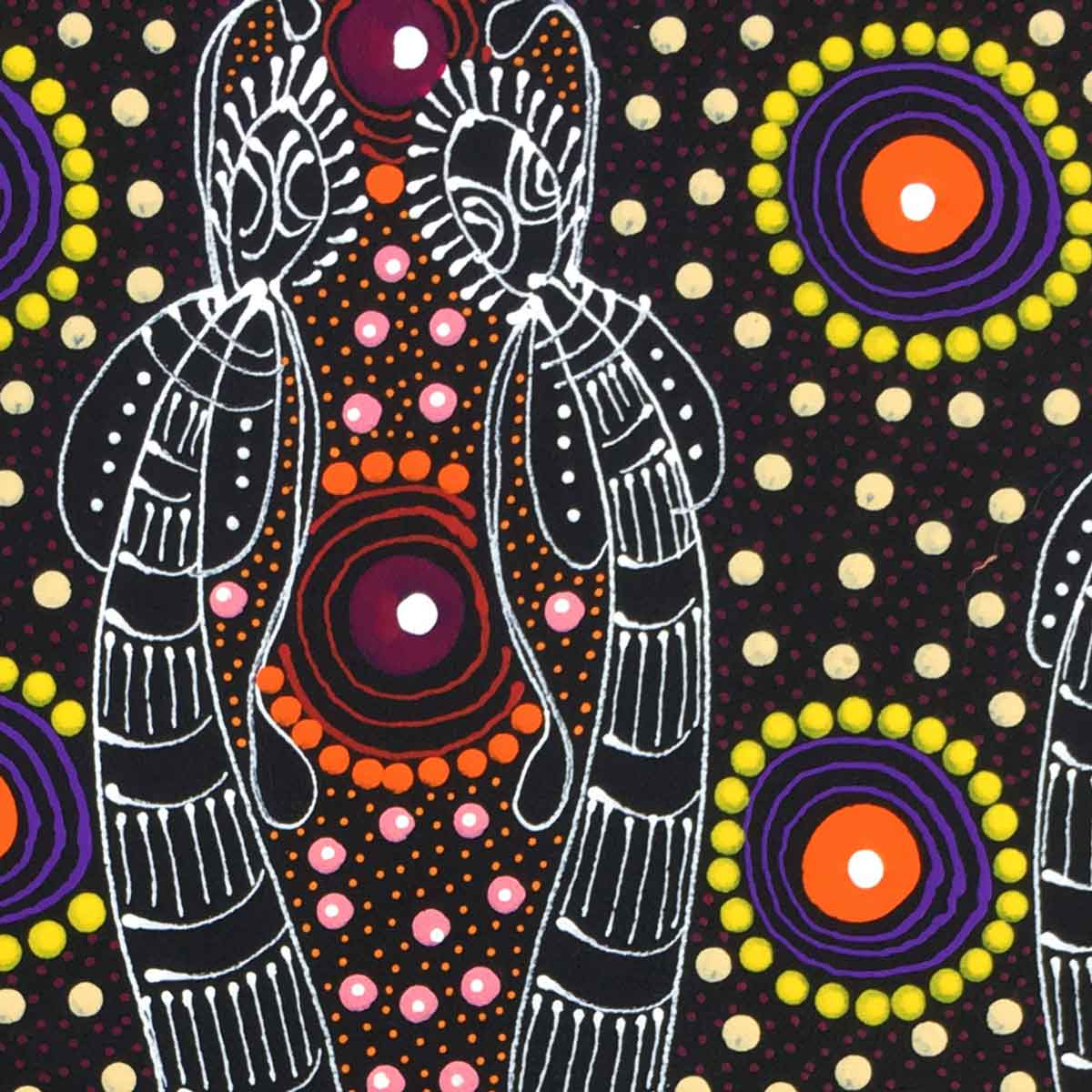 Small Dreamtime Sisters painting by Colleen Wallace Nungari