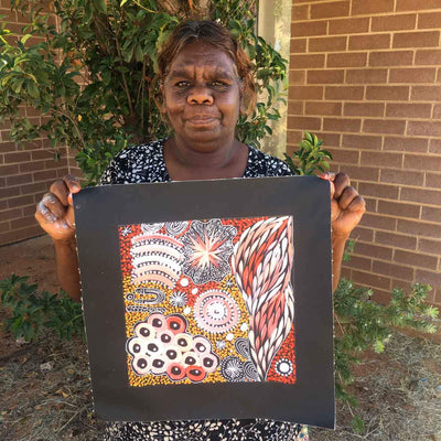 Bush Yam Story by Janet Golder Kngwarreye (SOLD)