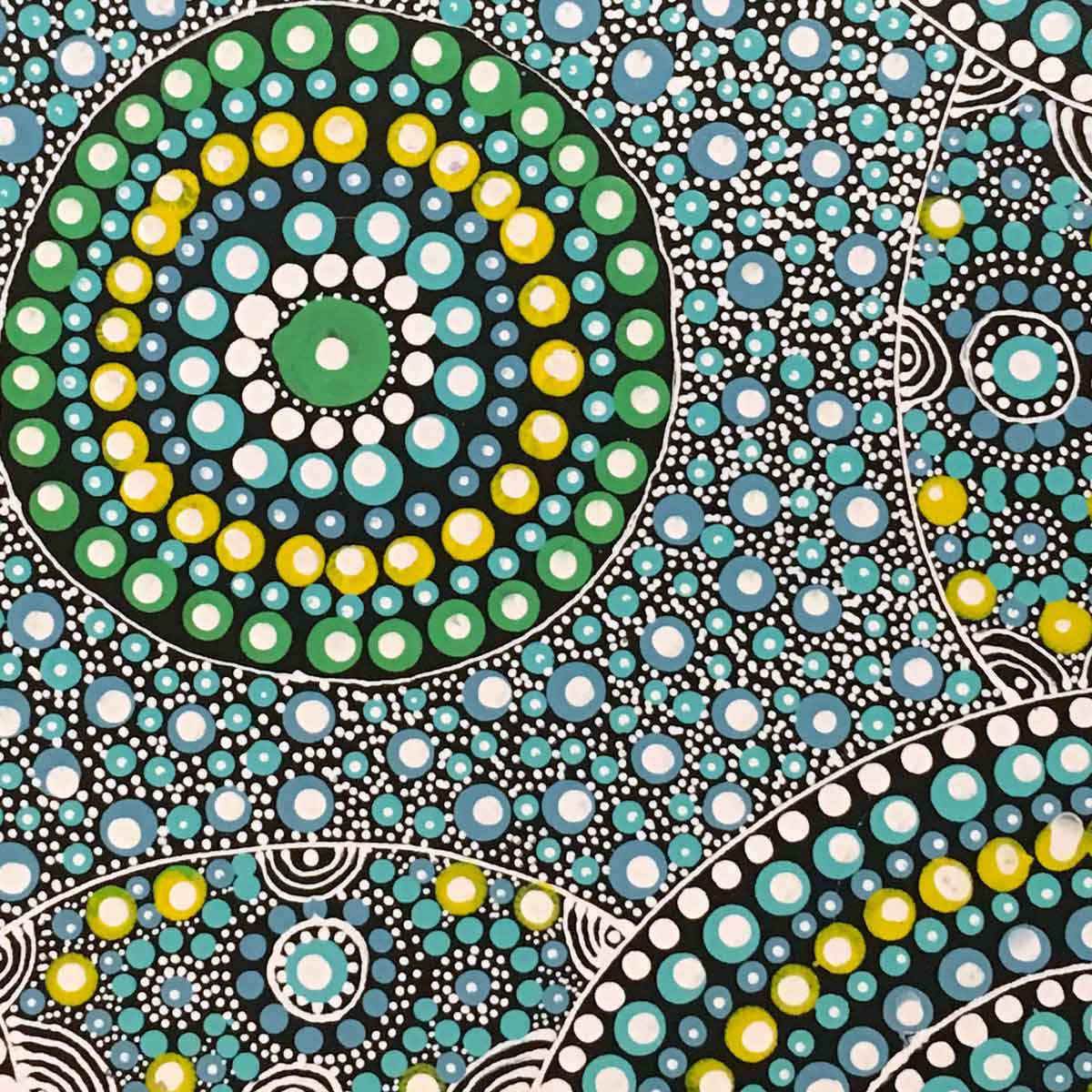 Alpar Seed Story by Maggie Bird Mpetyane | Stretched. Australian Aboriginal Art.