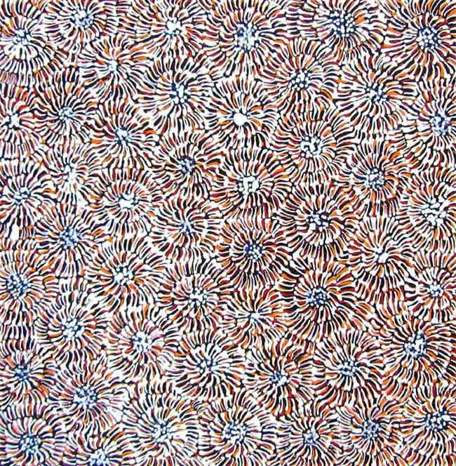 Ilyarnayt Flower by Audrey Morton Kngwarreye (SOLD)
