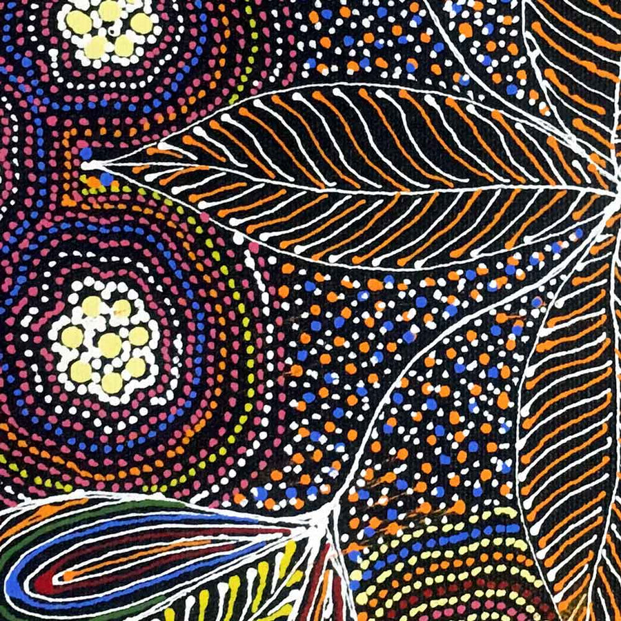 Sugarbag by Susan Hunter by Susan Hunter, 30cm x 30cm. Australian Aboriginal Art.