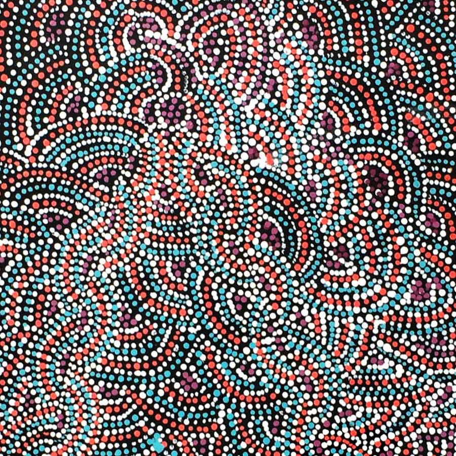Arwengerrp (Bush Turkey) by Rosie Pwerle-by-Rosie Pwerle-120cm x 45cm-at-Utopia-Lane-Gallery #AboriginalArt #Rosie Pwerle