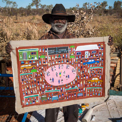 Bush Football by Dinny Kunoth Kemarre
