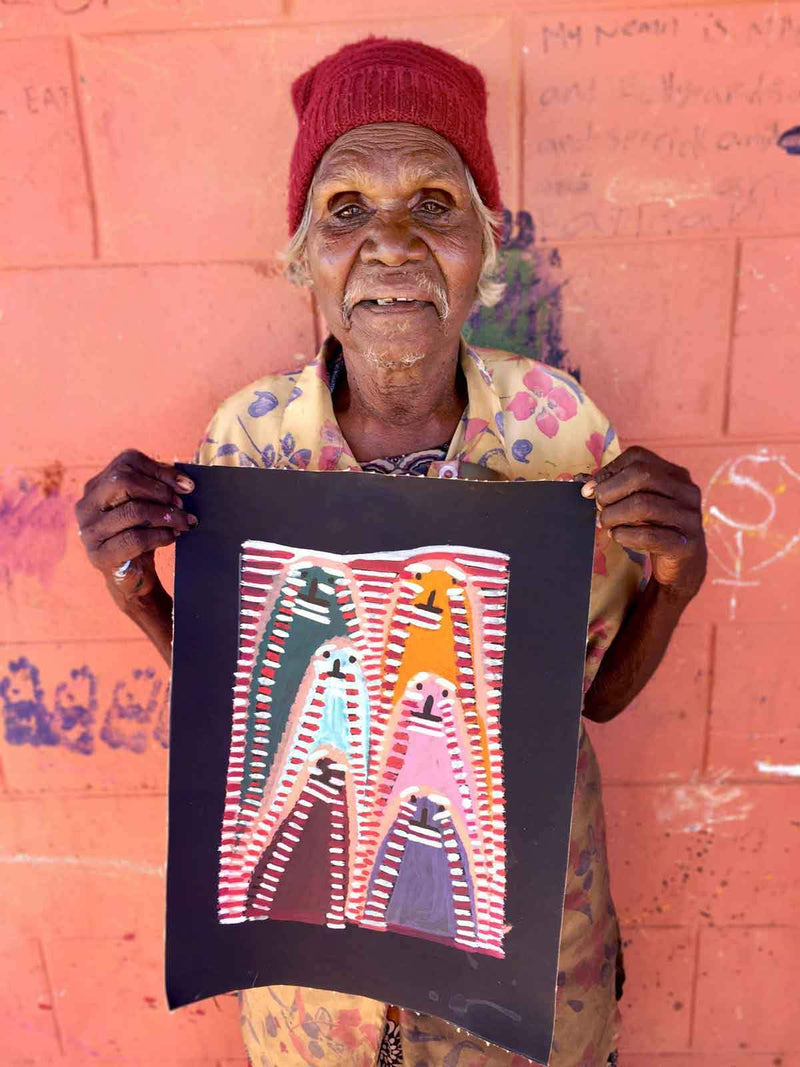 Atham-areny Story by Angelina Ngale. Australian Aboriginal Art.