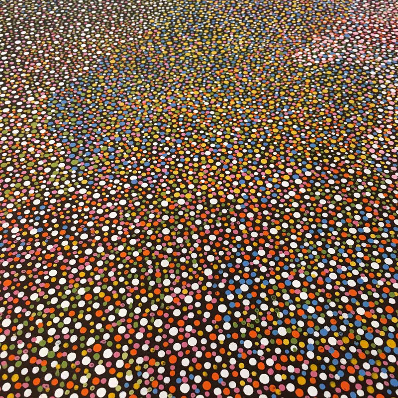 Pencil Yam Seed by Josie Kunoth Petyarre.Australian Aboriginal Art.