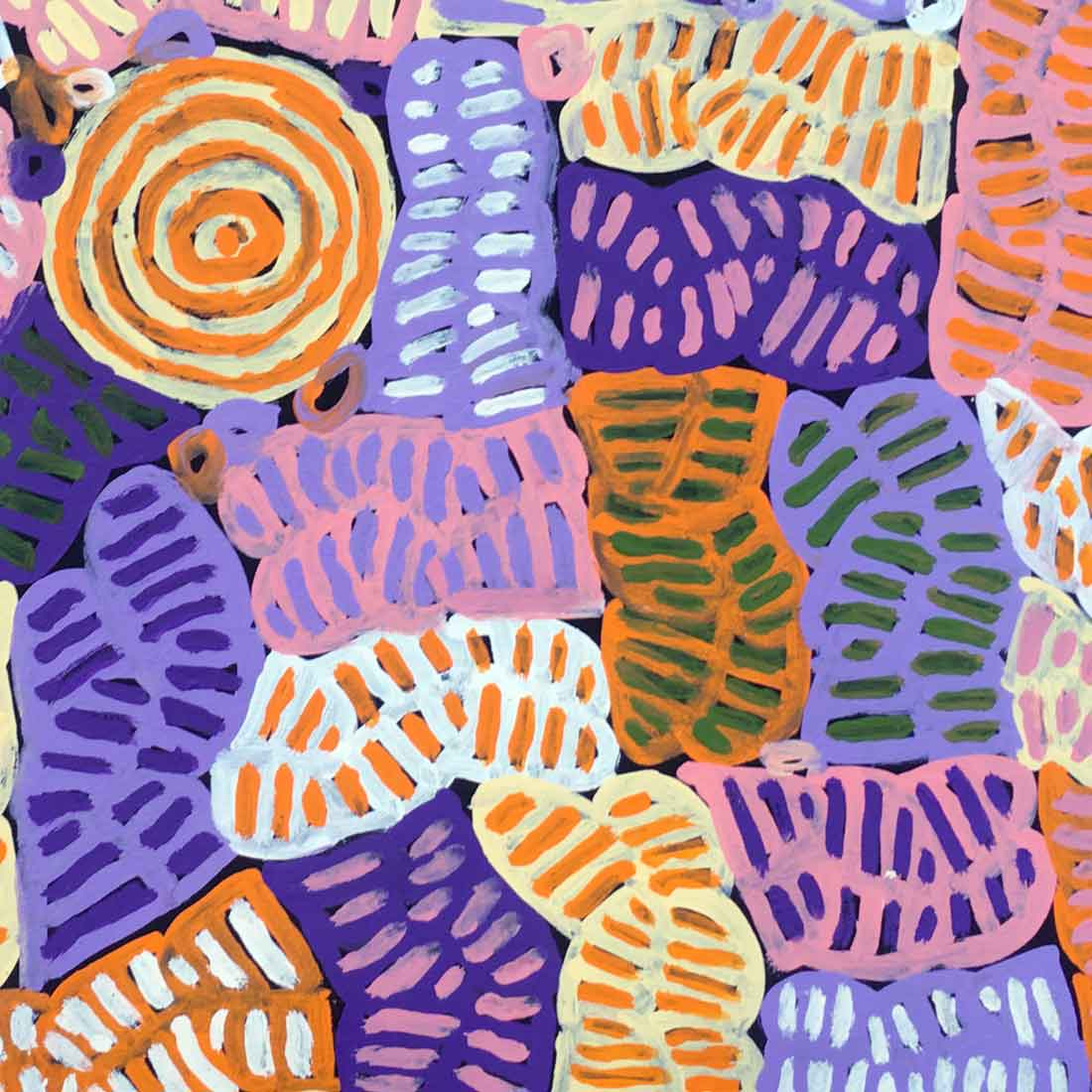 My Mother's Country by Betty Mbitjana. Australian Aboriginal Art.