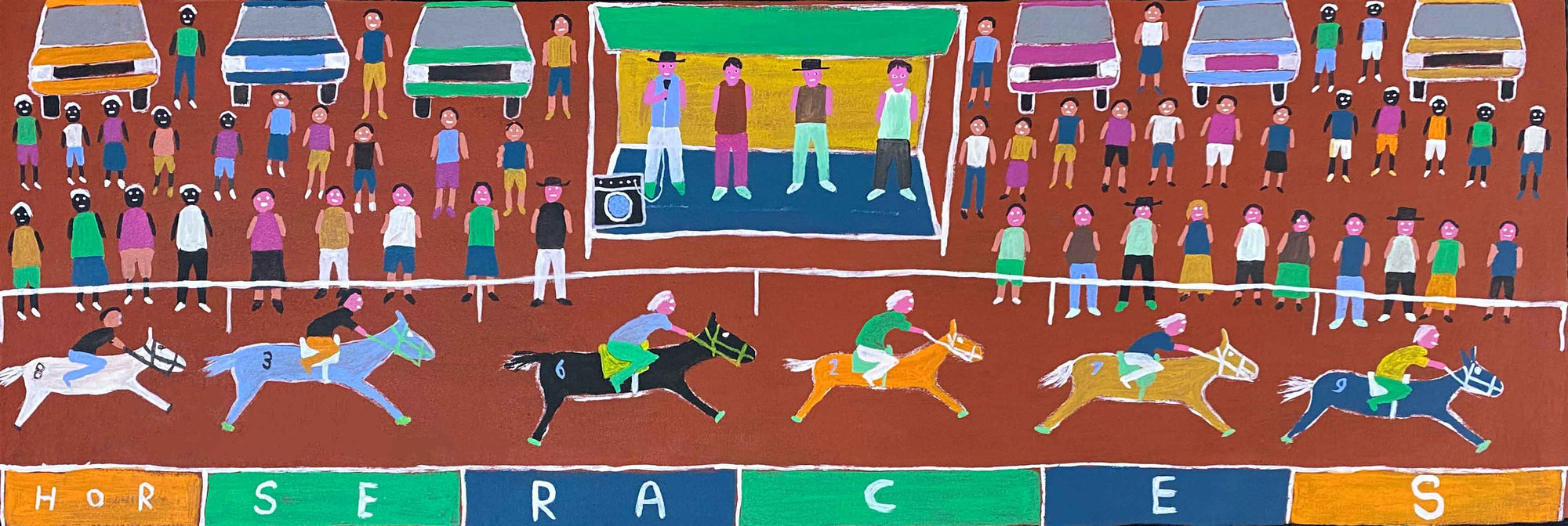 Horse Races by Dinny Kunoth Kemarre