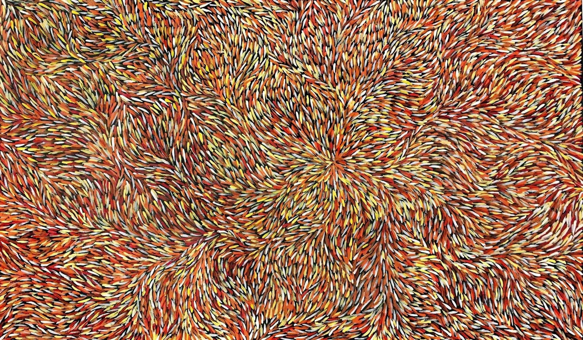 Bush Medicine Leaves by Jeannie Petyarre. Australian Aboriginal Art.