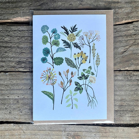 Hedgerow card by Brie Harrison