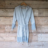 Traditional Turkish Hammam Robe - Grey/White