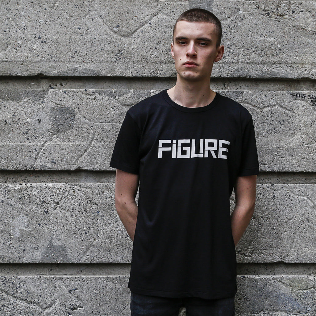 FIGURE T-SHIRT - THE LOGO - WHITE ON BLACK