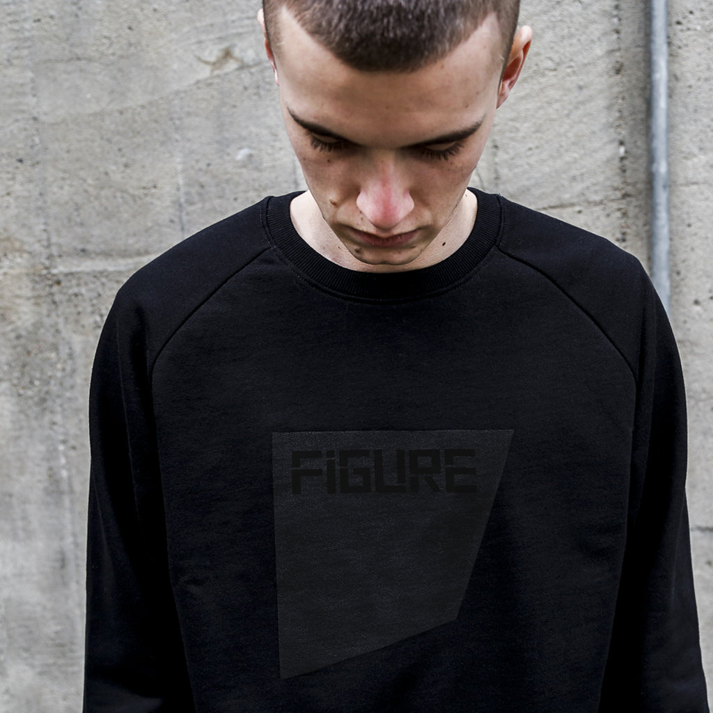FIGURE SWEATER - THE SQUARE - BLACK ON BLACK