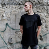 FIGURE T-SHIRT - THE SQUARE - BLACK ON BLACK