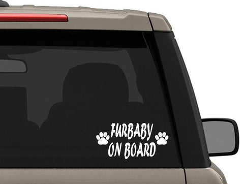 Furbaby on board car window dog bumper sticker