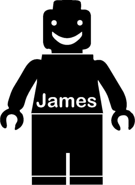Personalised Lego Man Wall Sticker Wall Art Decal Transfer Boys Childrens Toy