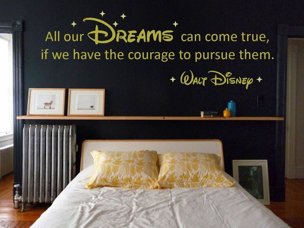 "Walt Disney ""Dreams"" Vinyl Wall Art Quote Decal Sticker ..."
