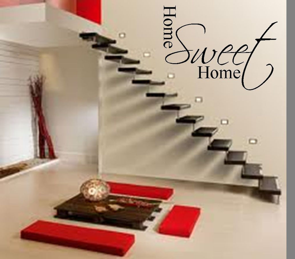 Home Sweet Home Vinyl Wall Art Quote Decal Sticker Sign Family Love Lounge