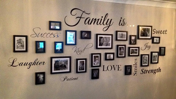 Family is Picture Photo Wall Art Quote Decal Sticker Sign