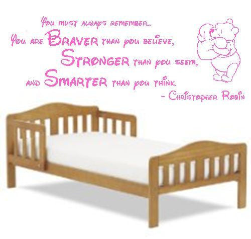 Winnie The Pooh Children Vinyl Wall Art Quote Decal Sticker Sign Disney Baby