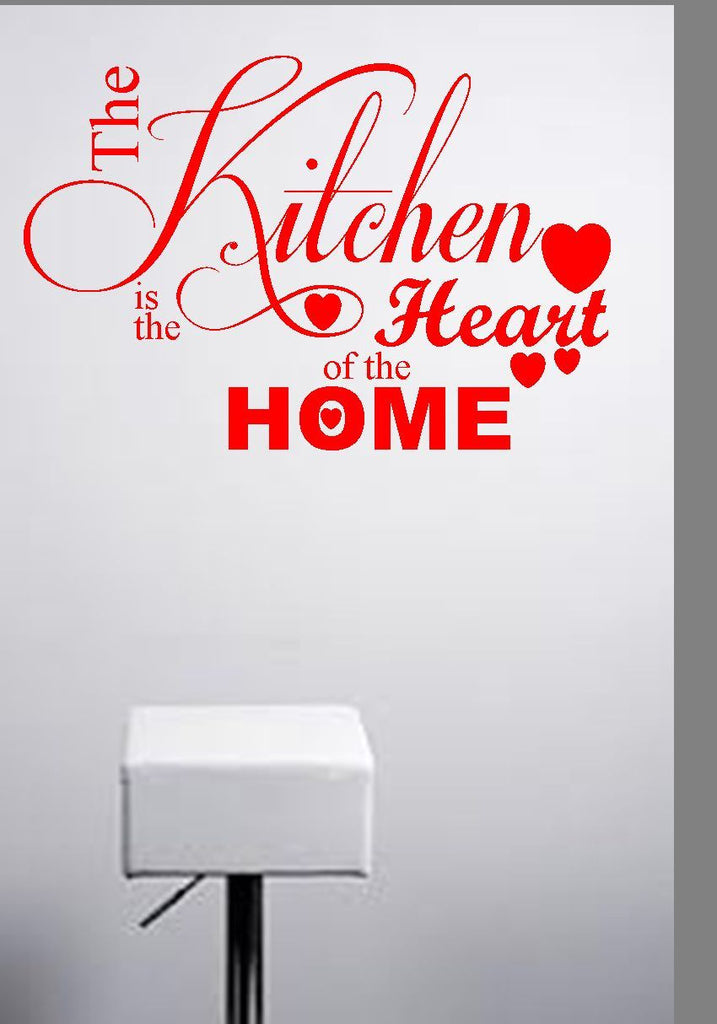 The Kitchen Is The Heart Of The Home Vinyl Wall Art Quote Decal Sticker