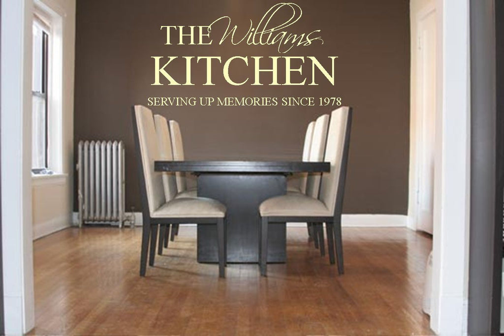 Serving Up Memories Family Kitchen Vinyl Wall Art Quote Decal ...
