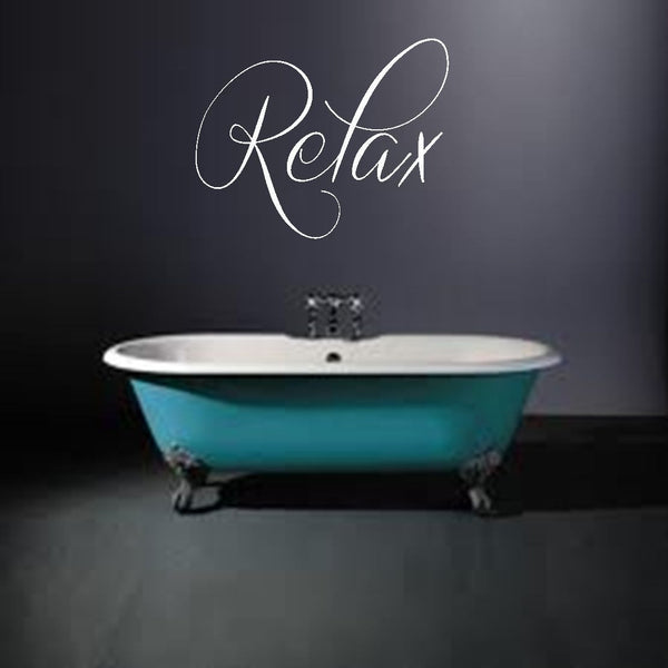 Relax Bathroom Vinyl Wall Art Quote Decal Sticker Chill Out Living Home Spa