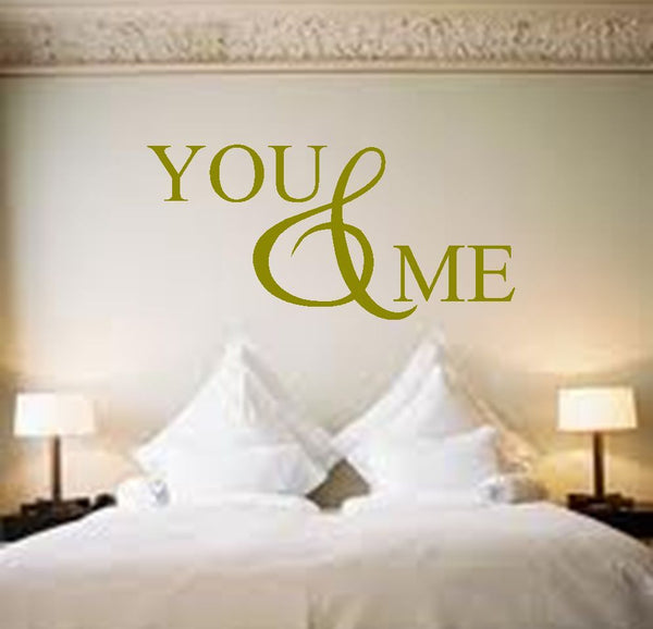 You and Me Vinyl Wall Art Quote Decal Sticker Love Bedroom Lounge