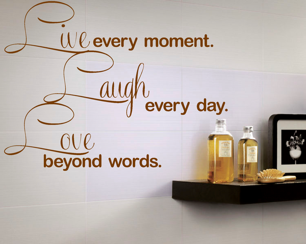 Live Laugh Love Vinyl Wall Art Quote Decal Sticker Home Bedroom Inspiration