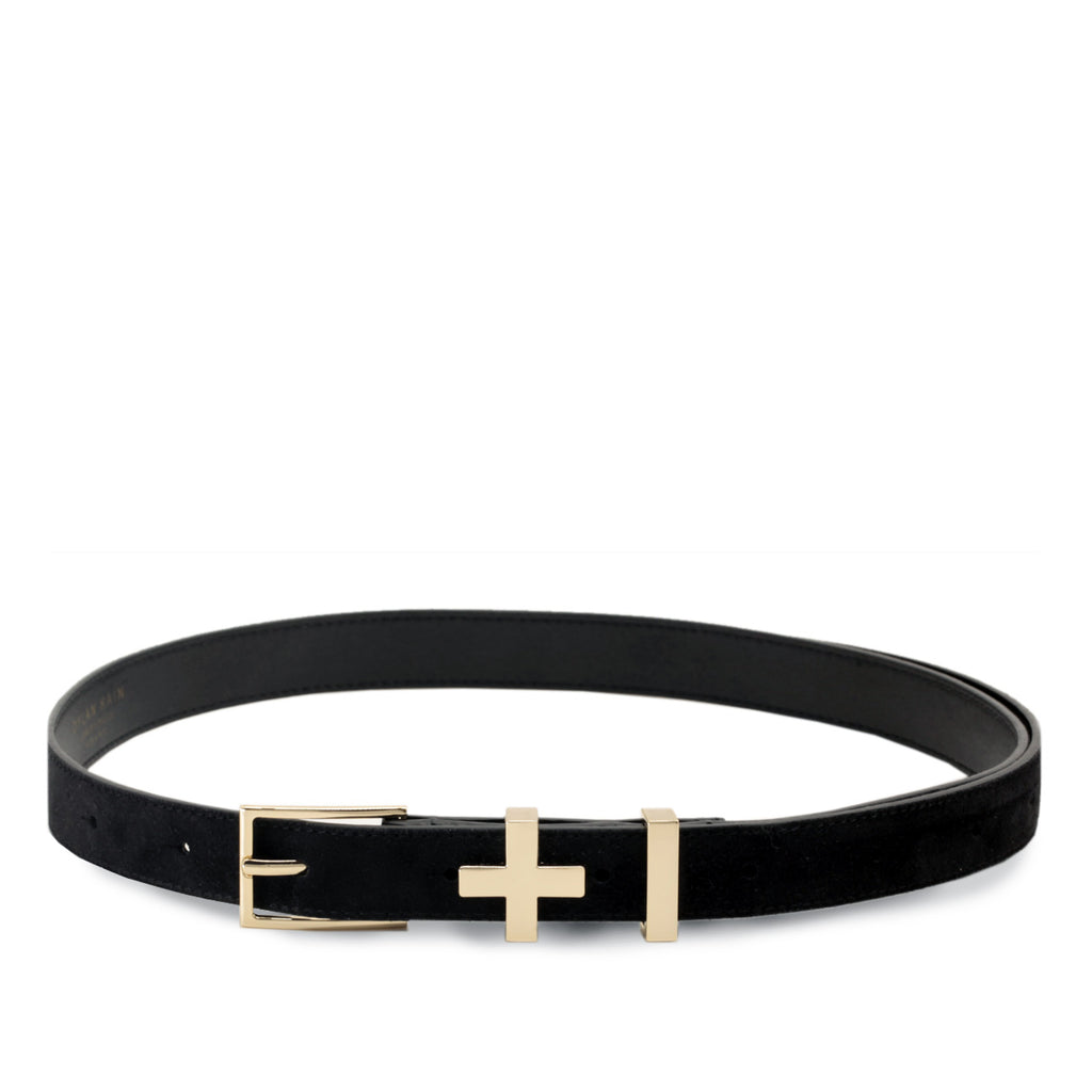 The Brooklyn Suede Belt Light Gold