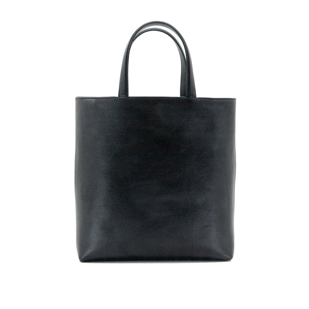 Dylan Kain Stars Black Leather Tote with Light Gold Hardware